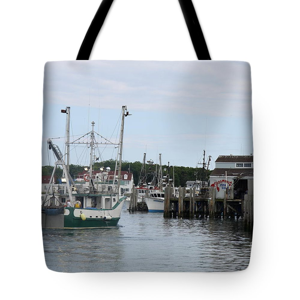 Arriving At The Harbor Tote Bag featuring the photograph New Species At The Port by Christiane Schulze Art And Photography