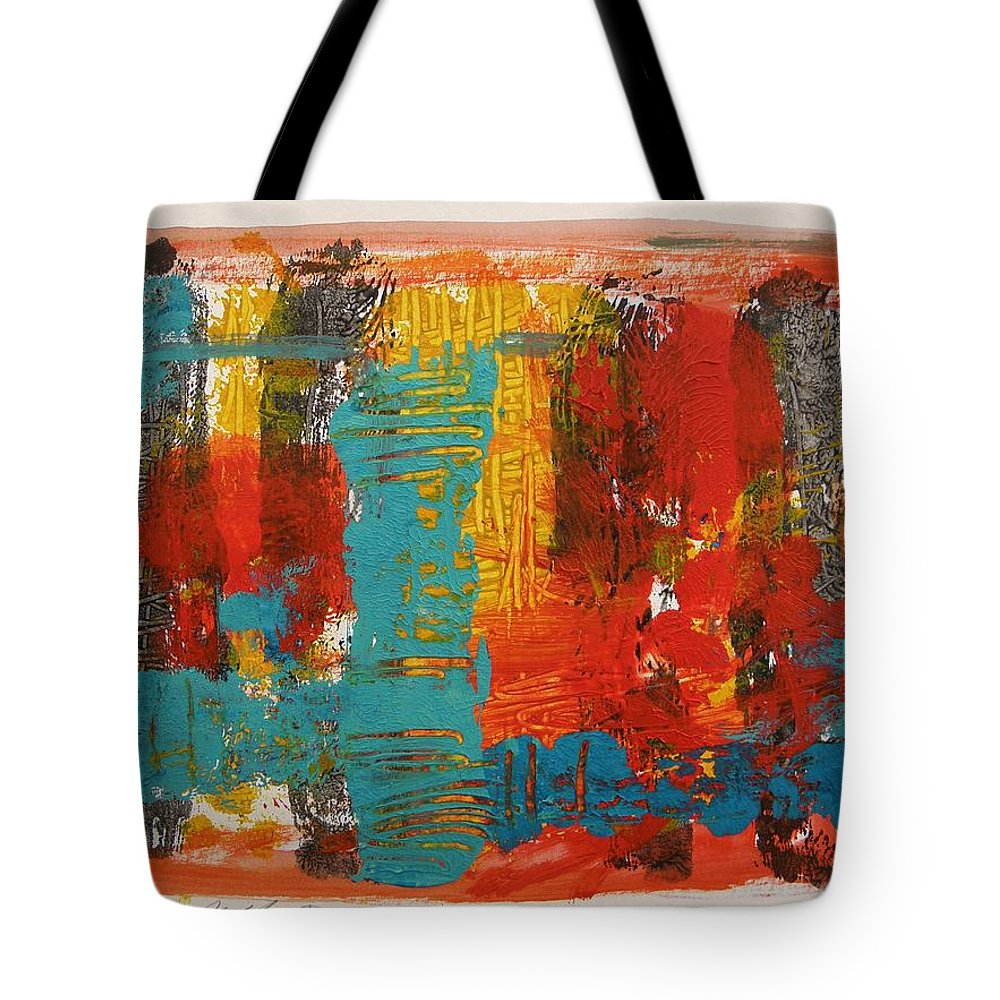 Steel Tote Bag featuring the painting New Steel Blue by John Williams