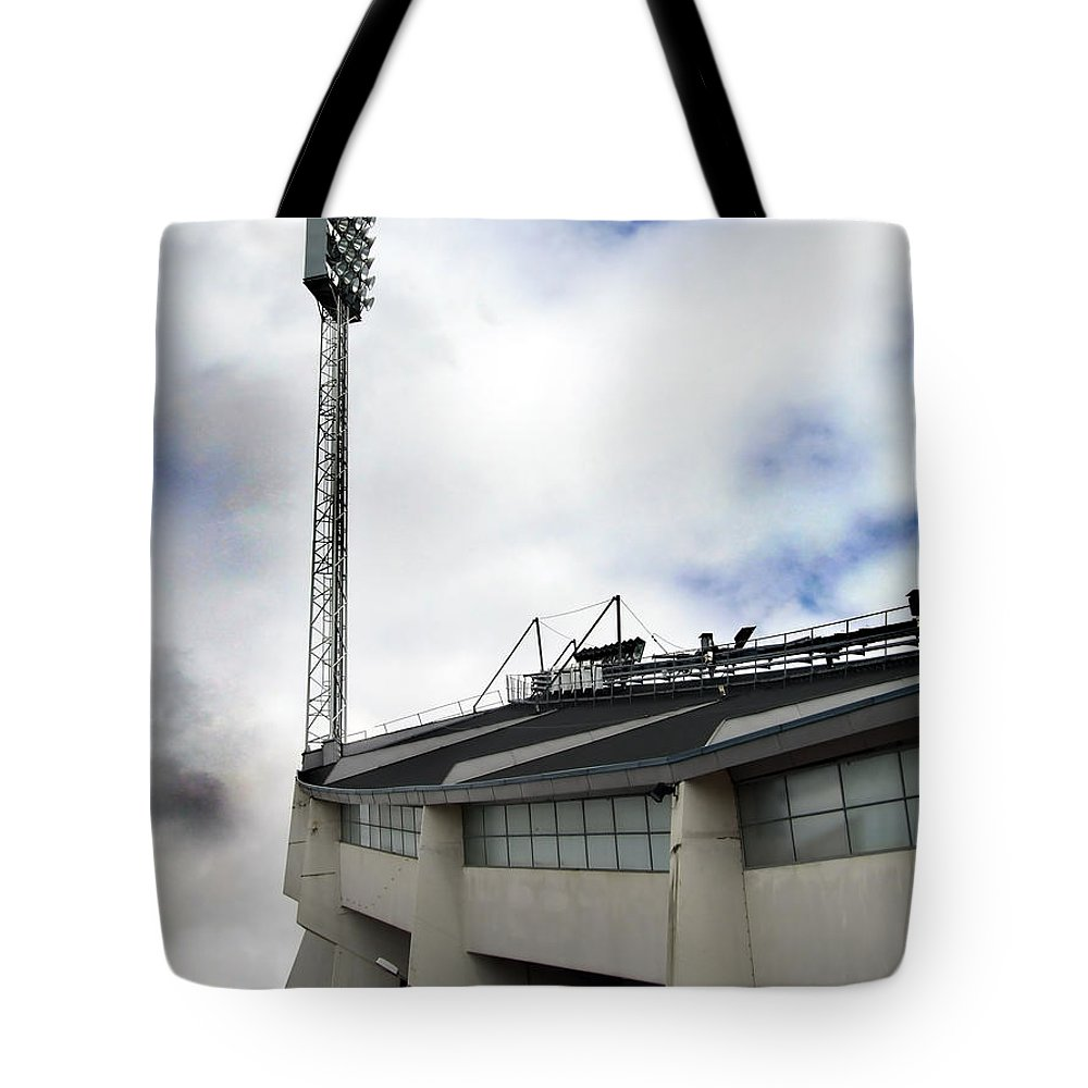Array Tote Bag featuring the photograph New Ullevi Stadium 01 by Antony McAulay