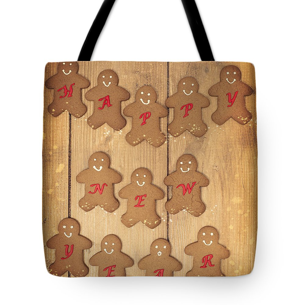 Gingerbread Tote Bag featuring the photograph New Year Gingerbread by Amanda Elwell