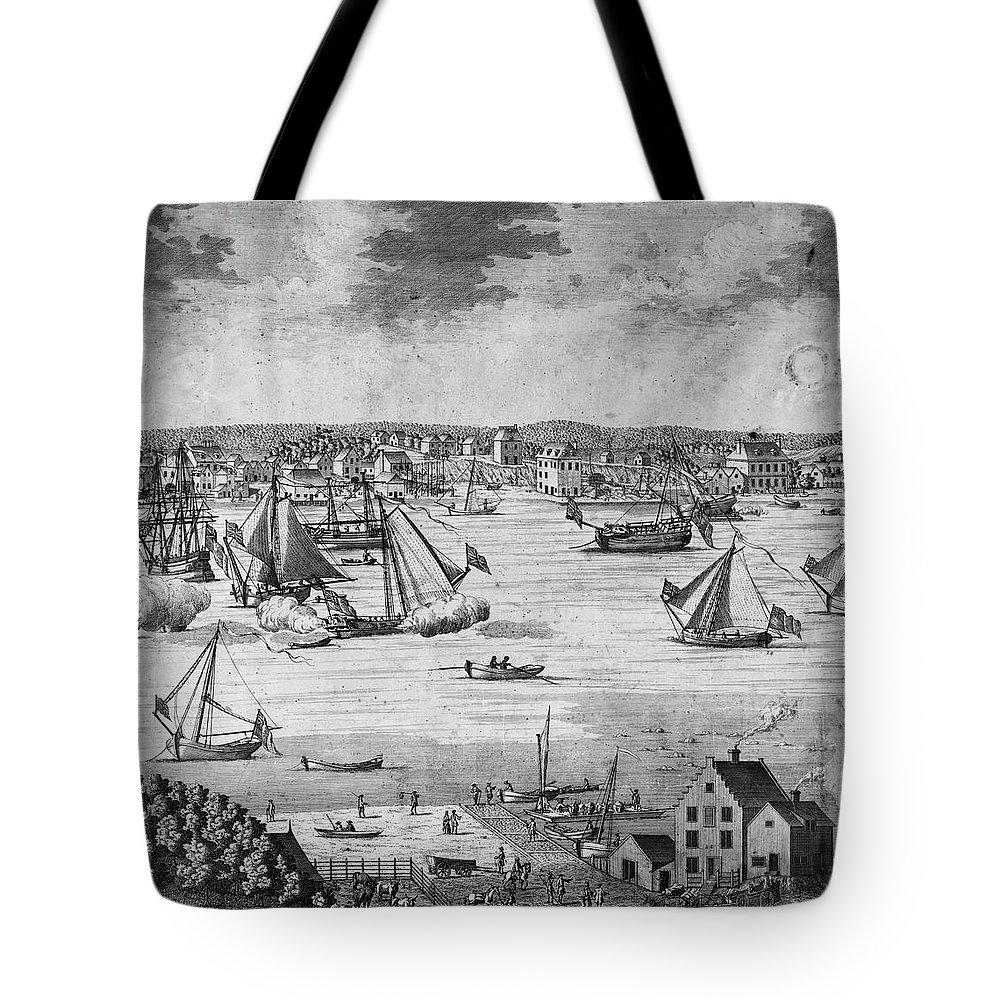 1717 Tote Bag featuring the painting New York City, 1717 by Granger