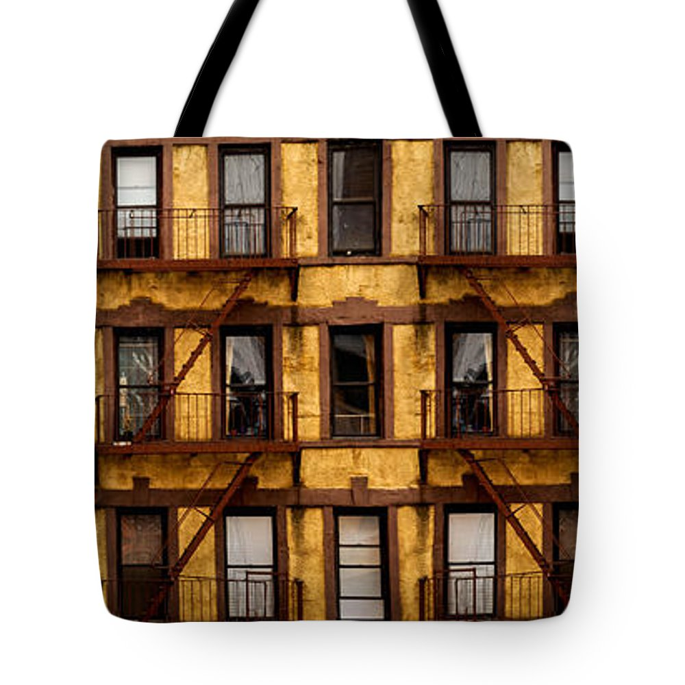 A Lot Tote Bag featuring the photograph New York City Apartment Building Study by Amy Cicconi