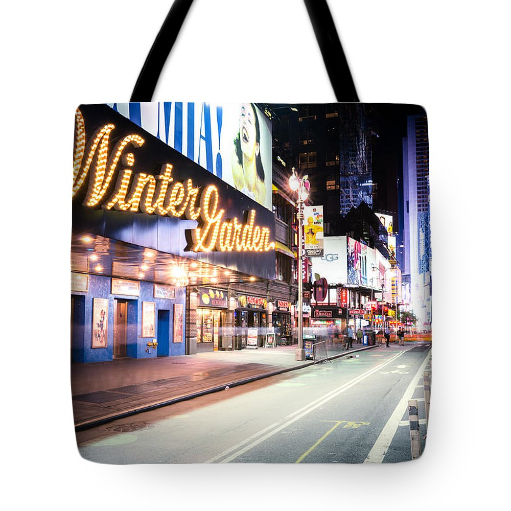 Nyc Tote Bag featuring the photograph New York City - Broadway Lights And Times Square by Vivienne Gucwa