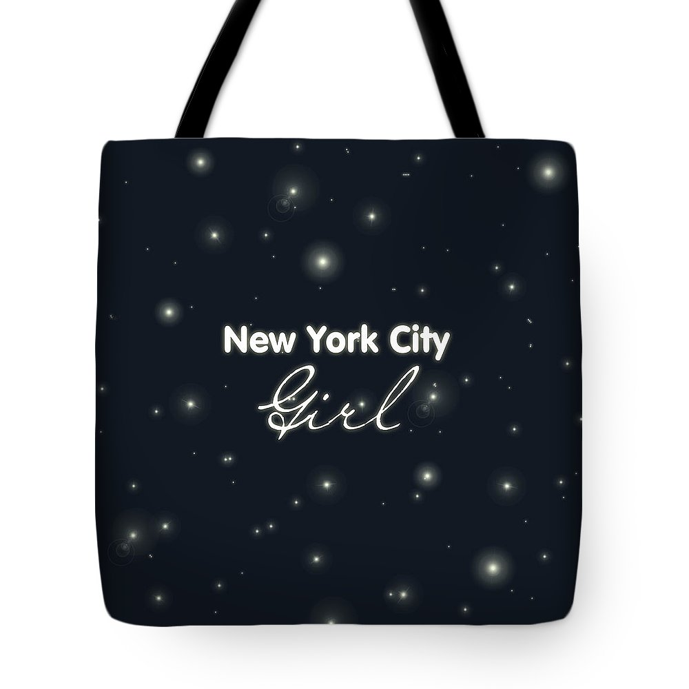 New York City Girl Tote Bag featuring the digital art New York City Girl by Pati Photography