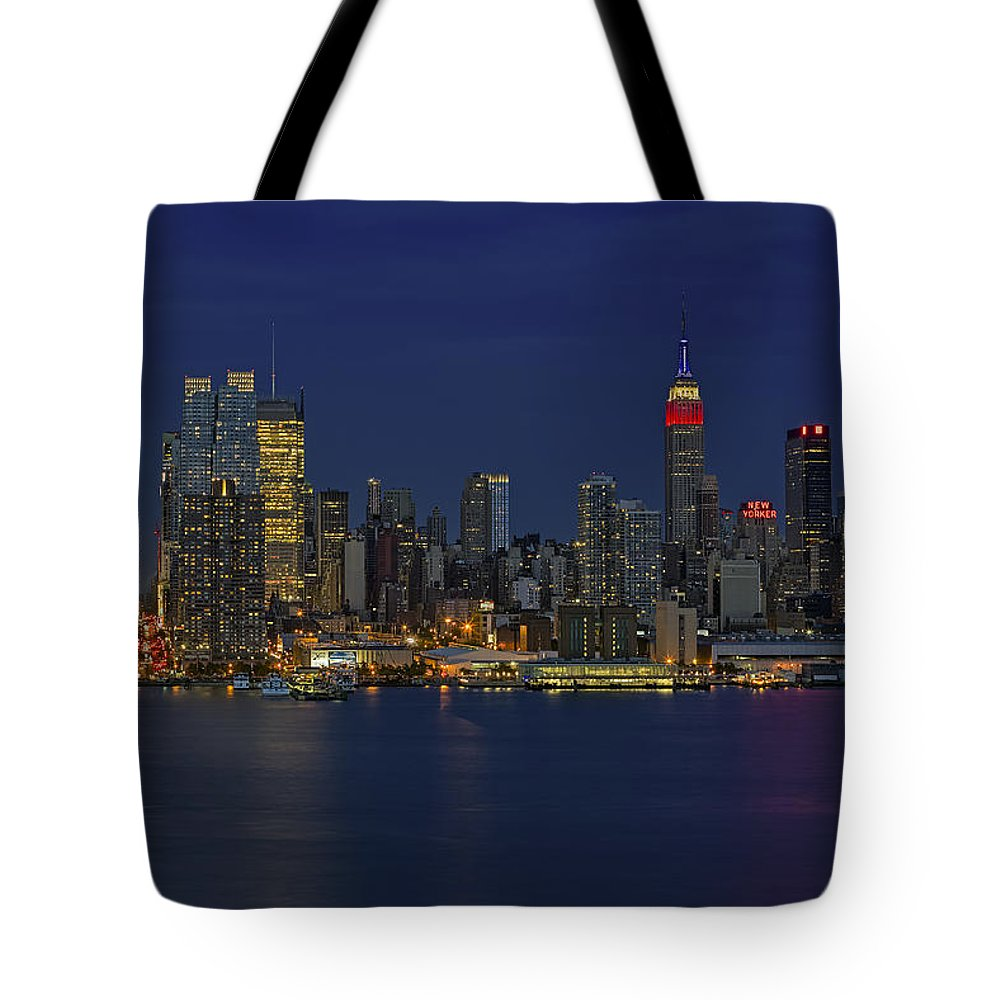 Esb Tote Bag featuring the photograph New York City Lights by Susan Candelario