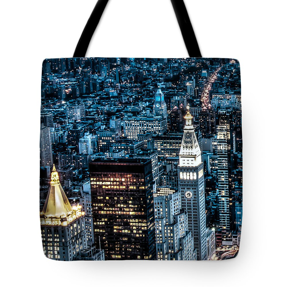 City Tote Bag featuring the photograph New York City Triptych Part 1 by Alex Hiemstra