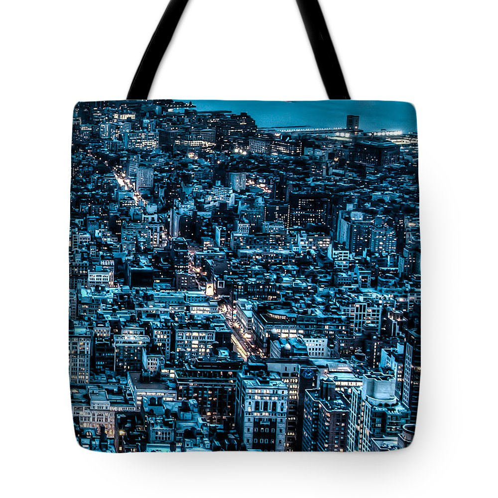 City Tote Bag featuring the photograph New York City Triptych Part 3 by Alex Hiemstra