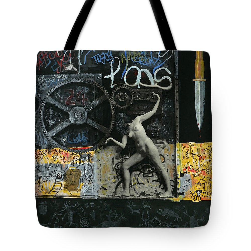 City Tote Bag featuring the painting New York City by Yelena Tylkina