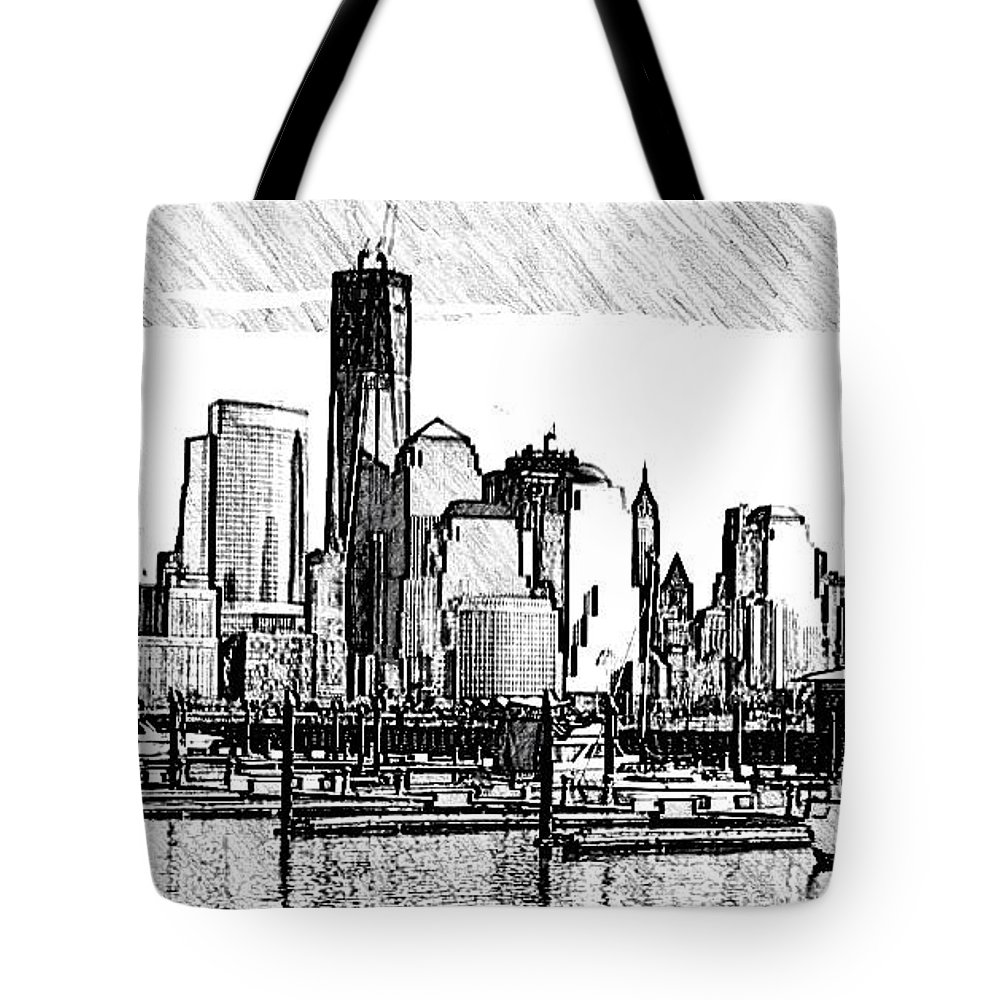 Nyc Tote Bag featuring the photograph New York Harbor by Kathleen Odenthal