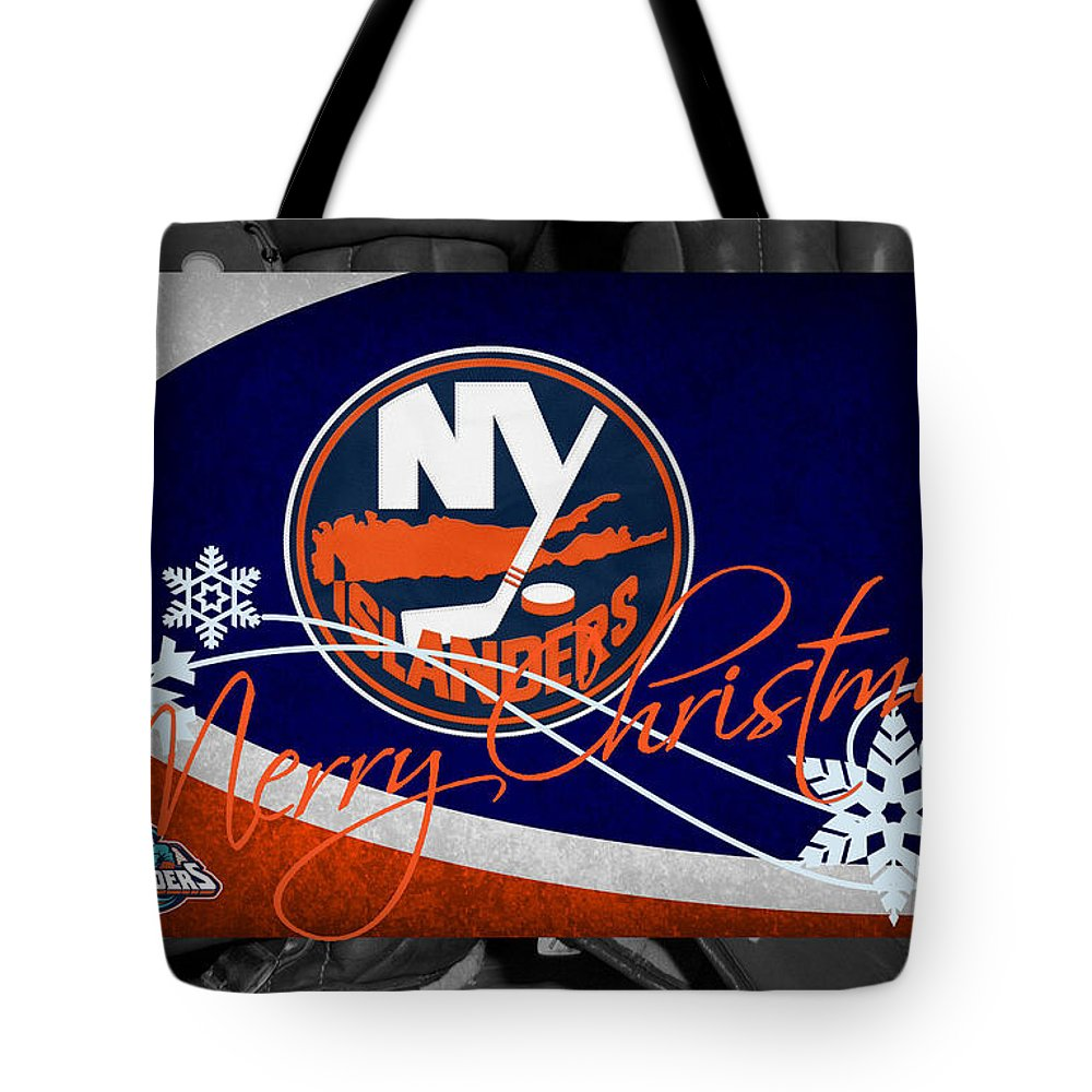 Islanders Tote Bag featuring the photograph New York Islanders Christmas by Joe Hamilton