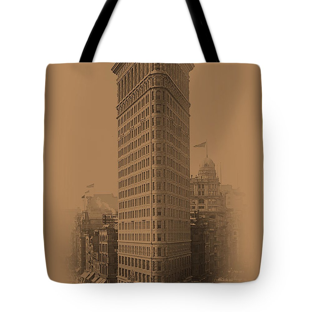 New York Tote Bag featuring the photograph New York Landmarks 3 by Andrew Fare