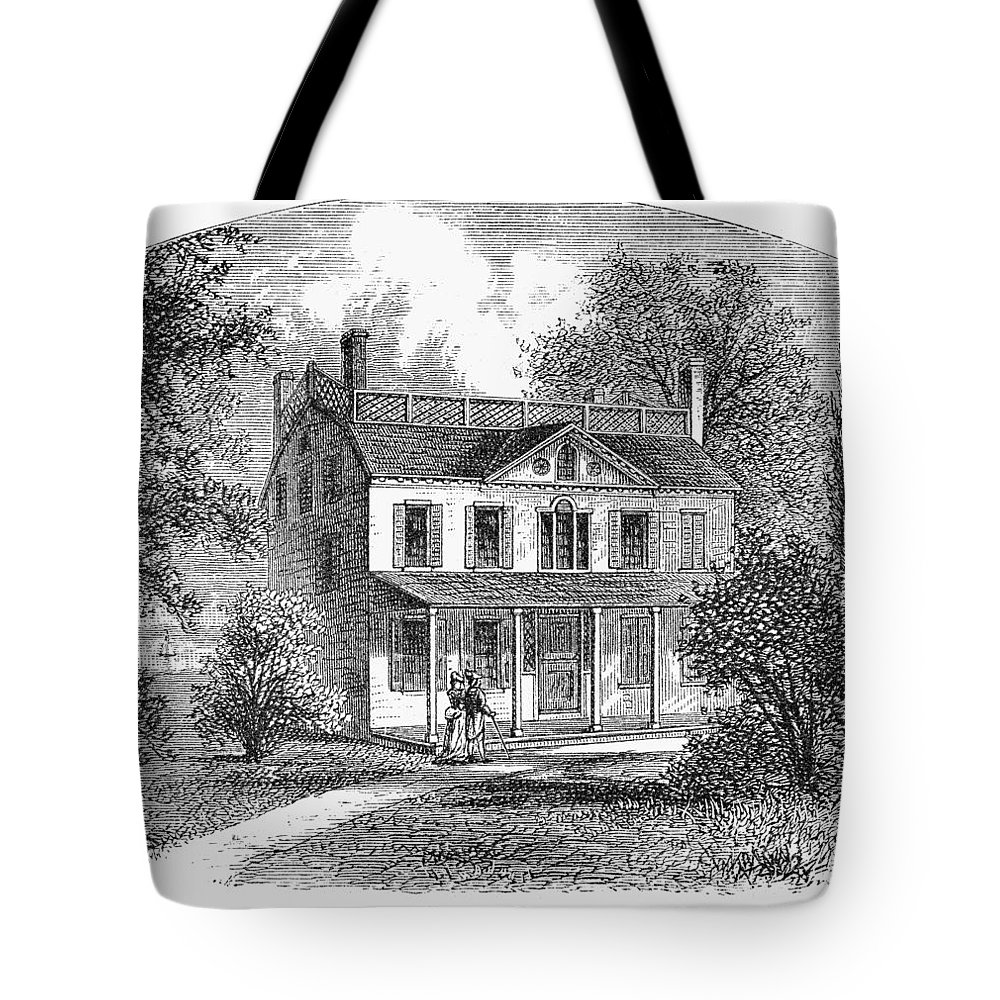 1763 Tote Bag featuring the photograph New York: Mansion, 1763 by Granger