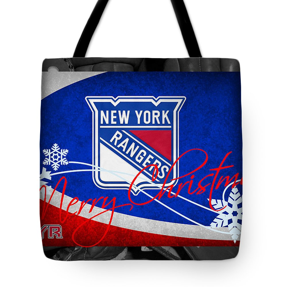 Rangers Tote Bag featuring the photograph New York Rangers Christmas by Joe Hamilton
