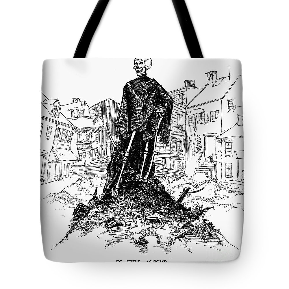 1885 Tote Bag featuring the photograph New York: Sanitation, 1885 by Granger