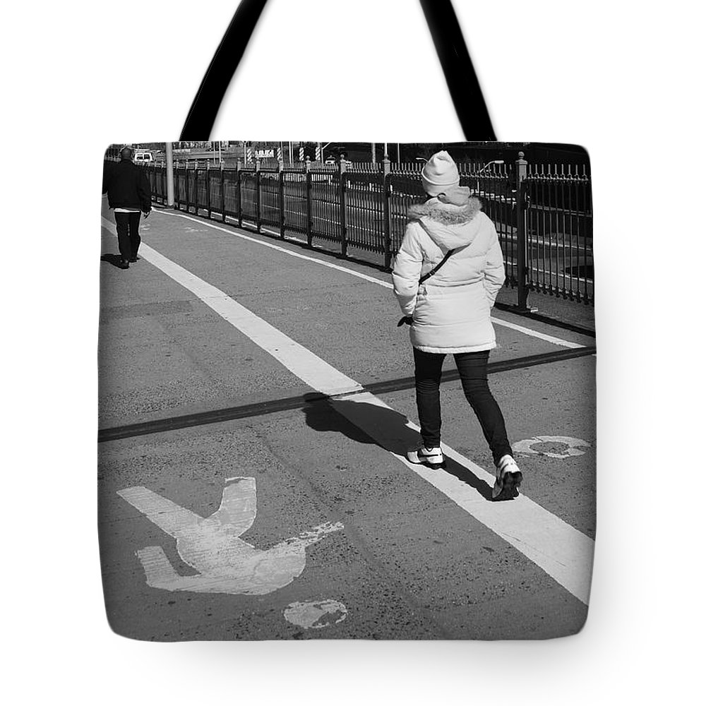 Architecture Tote Bag featuring the photograph New York Street Photography 10 by Frank Romeo