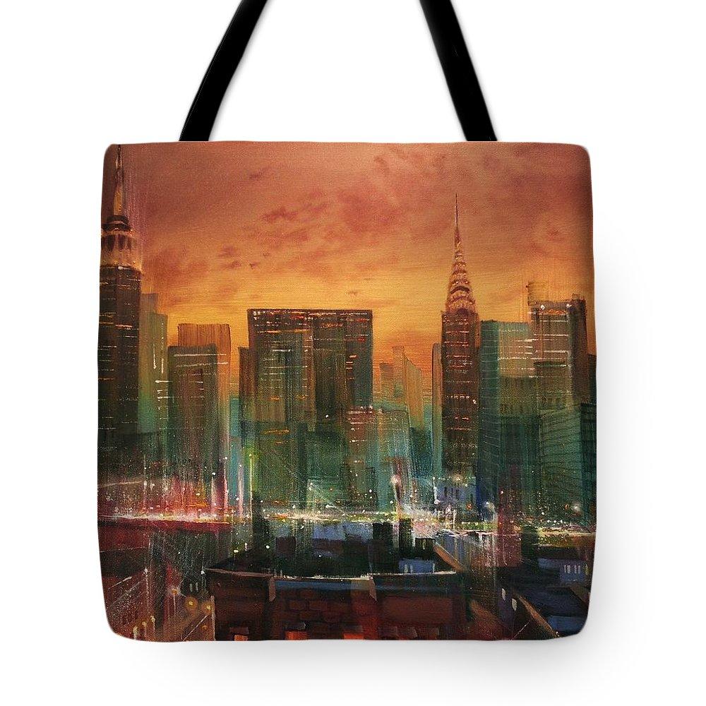 City Scene Tote Bags