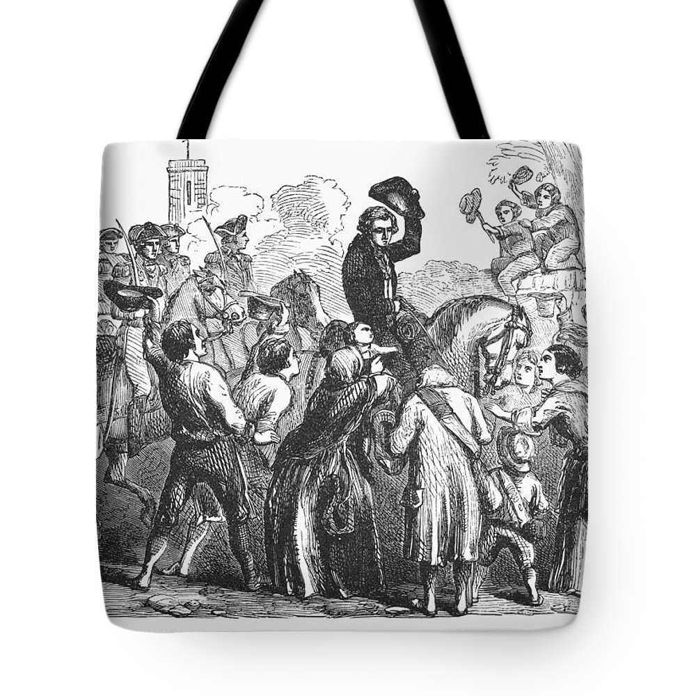 1776 Tote Bag featuring the photograph New York: Washington, 1776 by Granger