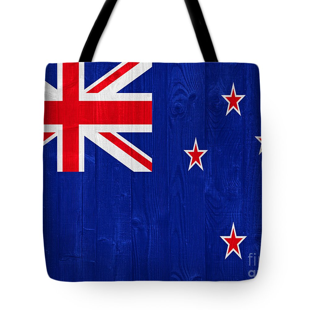 New Tote Bag featuring the photograph New Zealand Flag by Luis Alvarenga