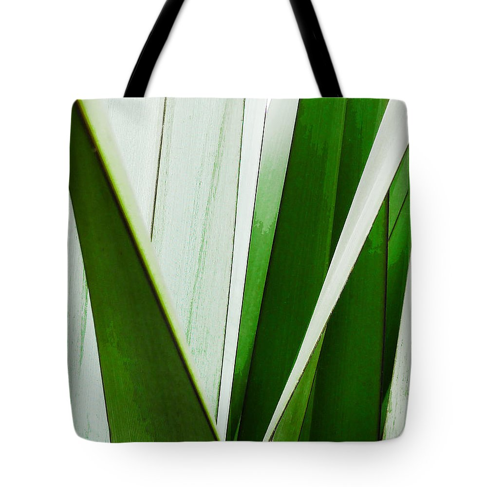 Green Tote Bag featuring the photograph New Zealand Flax Simplified by Steve Taylor