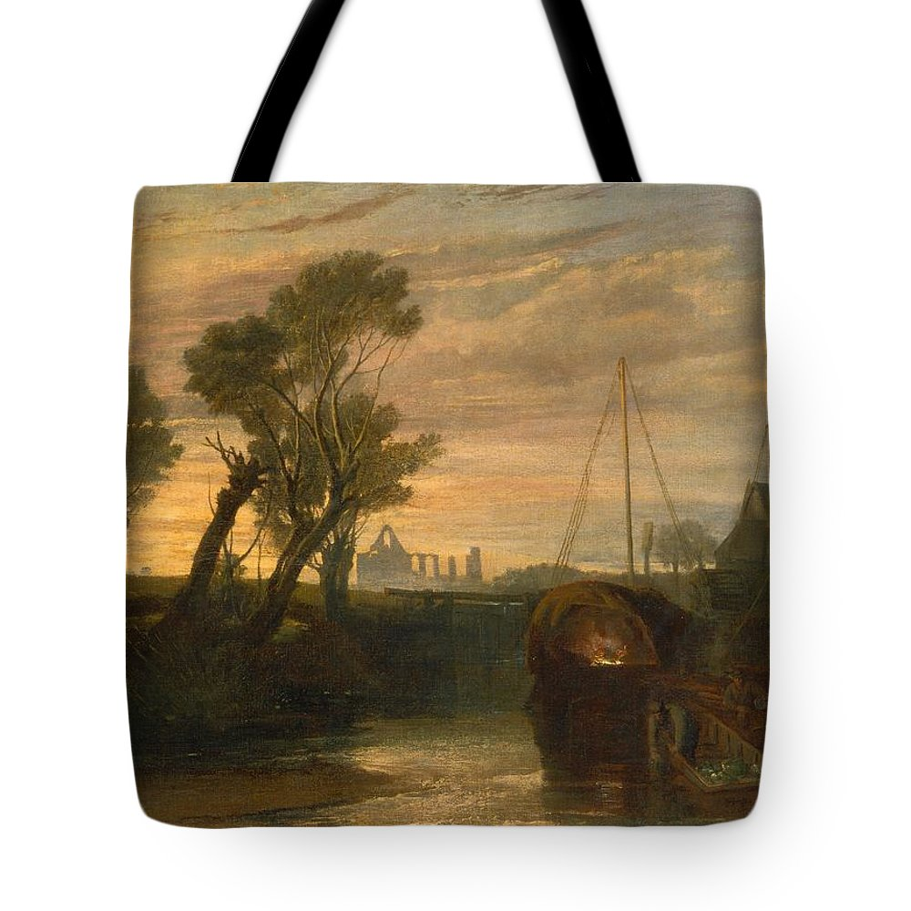 1806 Tote Bag featuring the painting Newark Abbey by JMW Turner