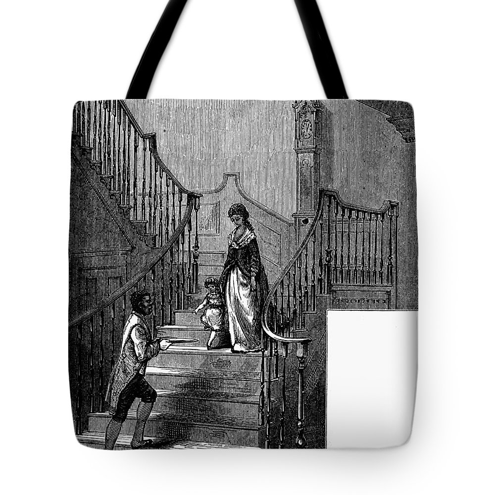 1780 Tote Bag featuring the painting Newark Schuyler Mansion by Granger
