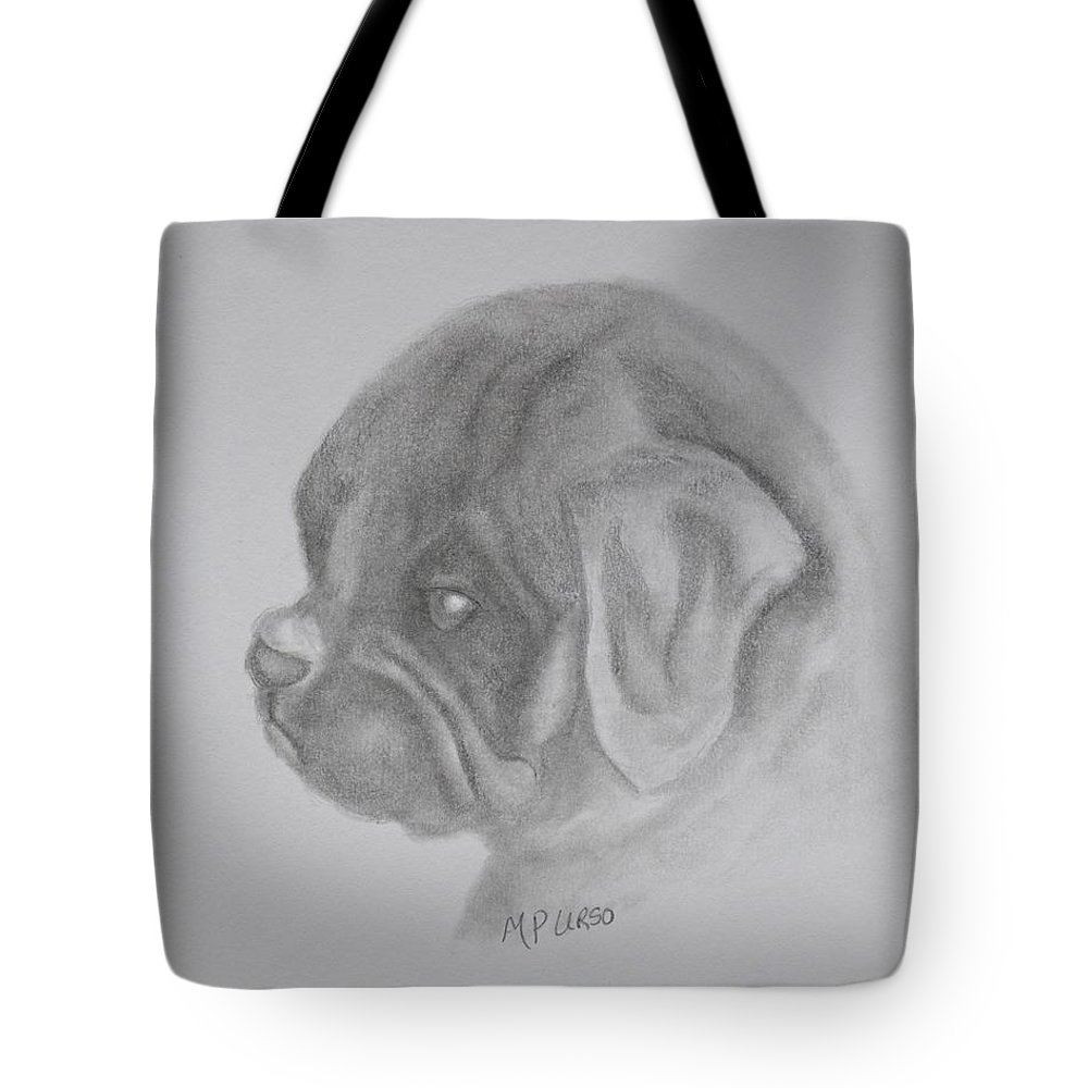 Newbie Tote Bag featuring the drawing Newbie by Maria Urso
