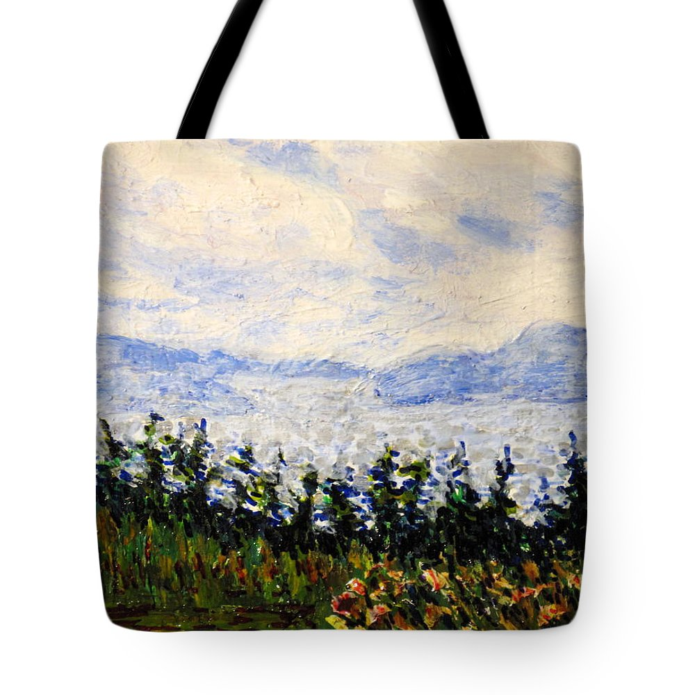 Newfoundland Tote Bag featuring the painting Newfoundland Up The West Coast by Ian MacDonald