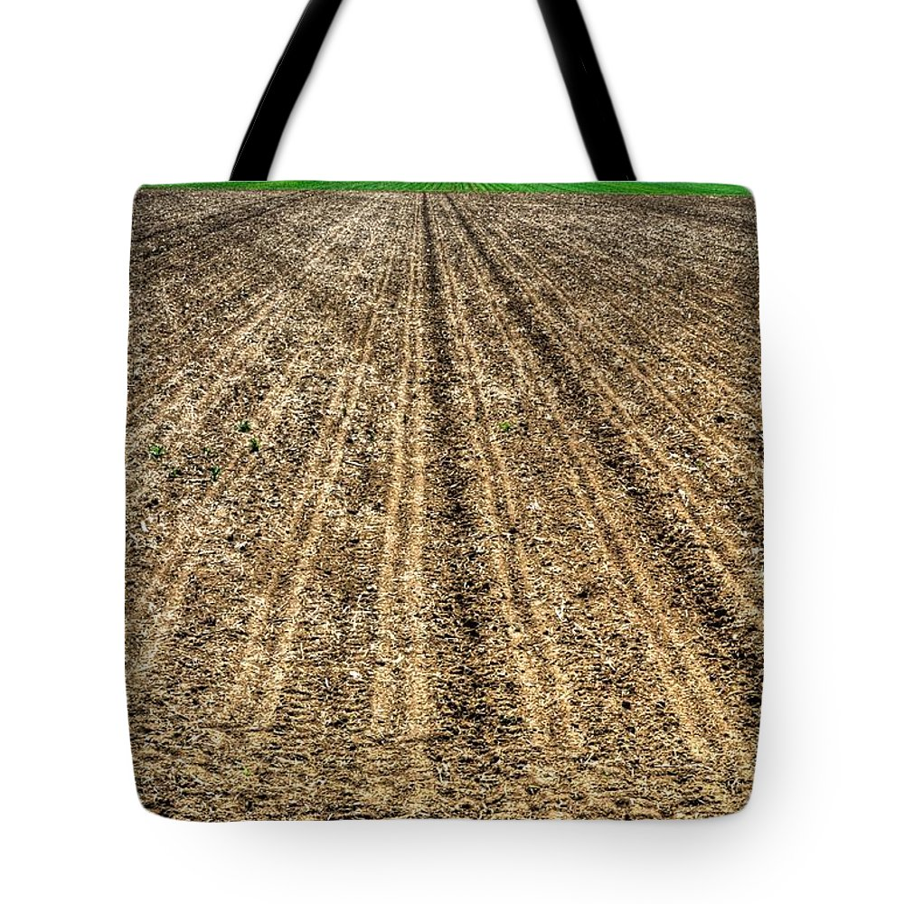 Ag Tote Bag featuring the photograph Newly Planted 14564 by Jerry Sodorff