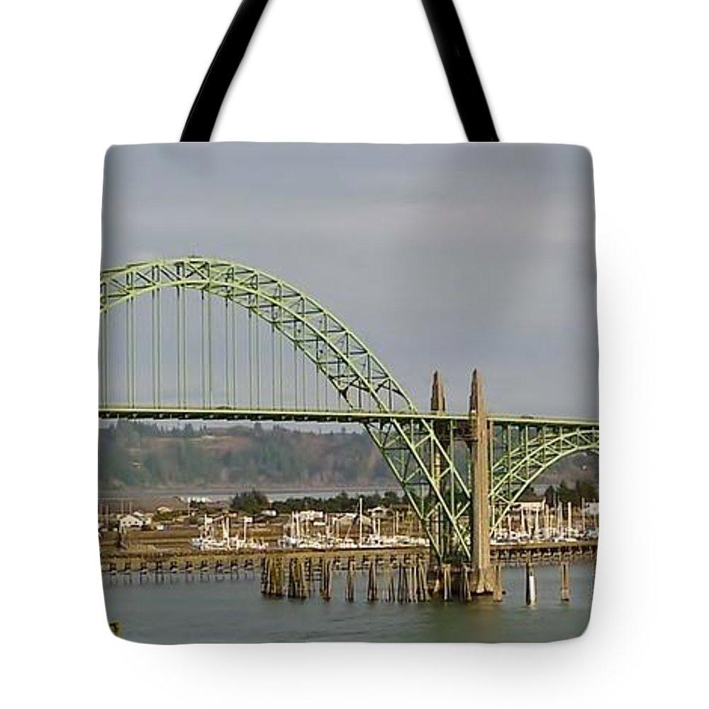 Waves Tote Bag featuring the photograph Newport Bay Bridge by Susan Garren