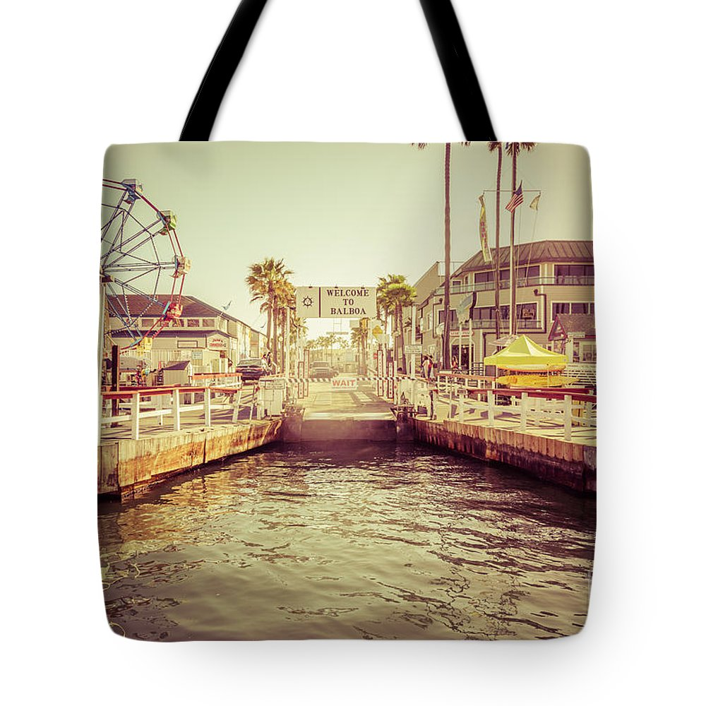 America Tote Bag featuring the photograph Newport Beach Balboa Island Ferry Dock Photo by Paul Velgos