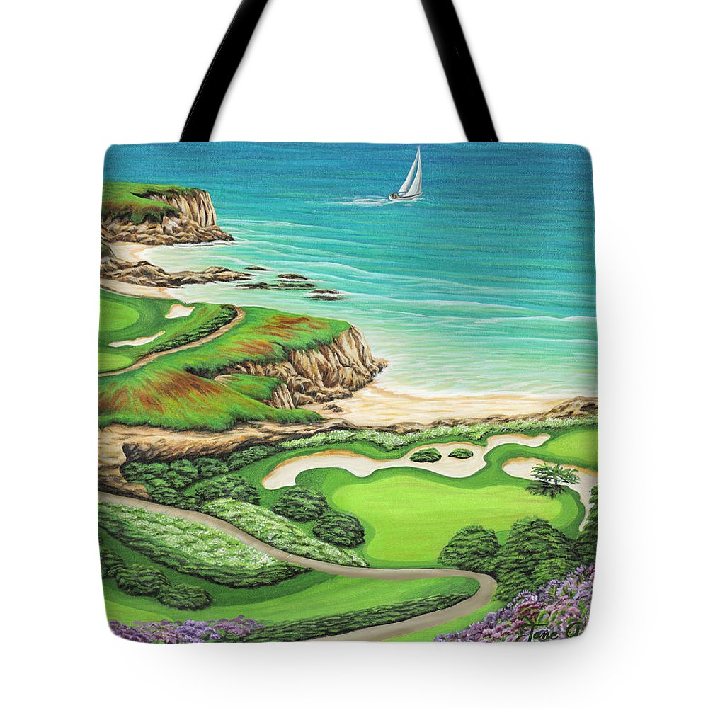 Ocean Tote Bag featuring the painting Newport Coast by Jane Girardot
