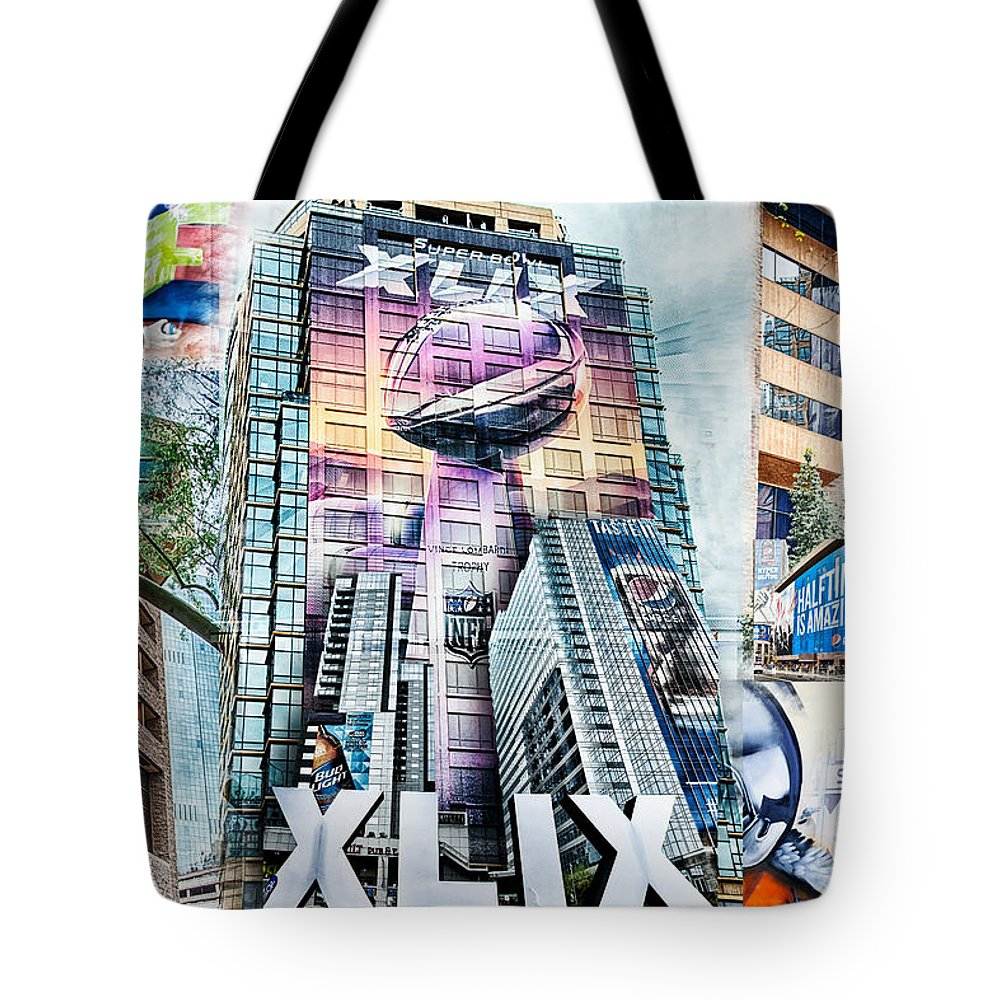 Superbowl Tote Bag featuring the photograph Nfl Experience 2015 by Sandy Klewicki