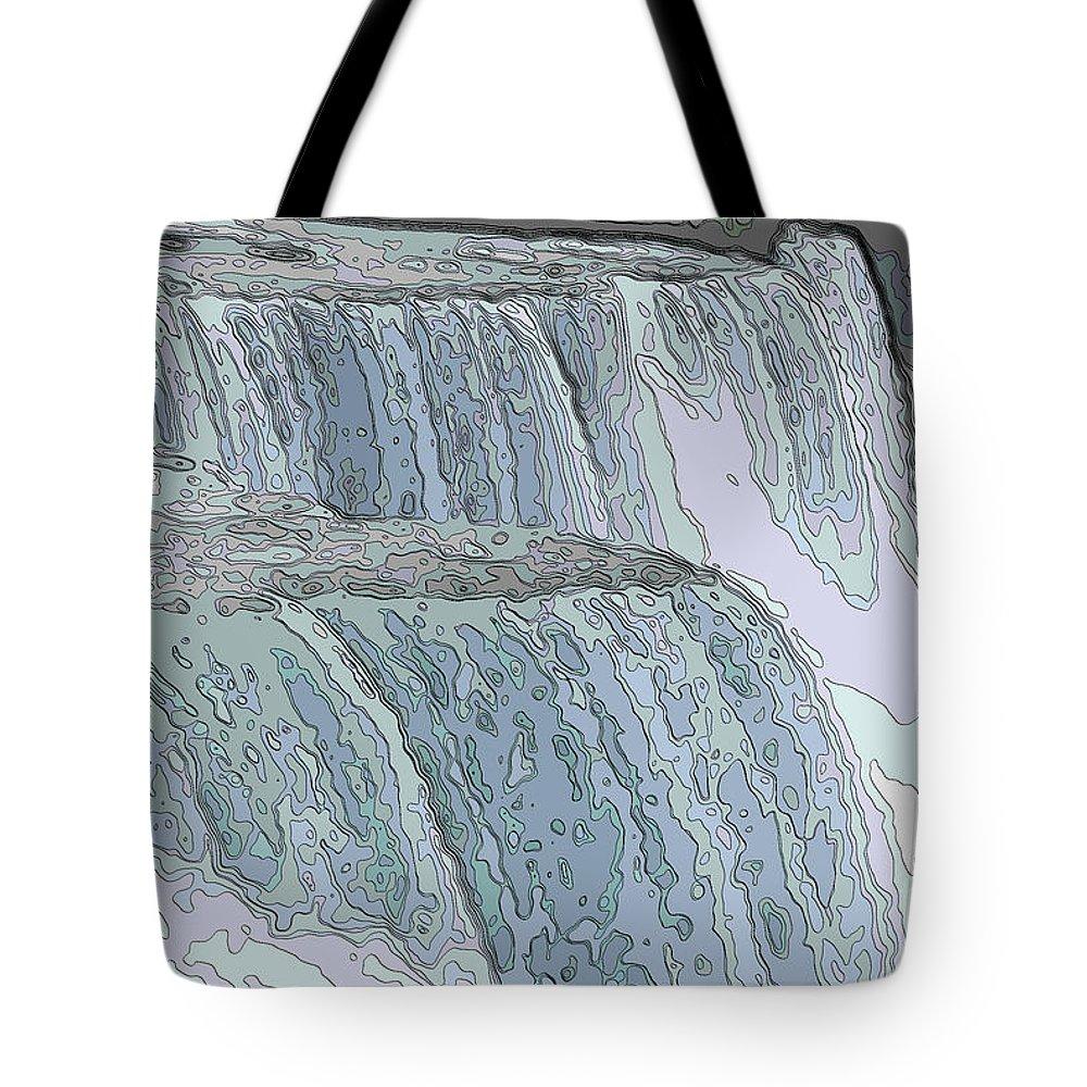 Contour Drawing Tote Bag featuring the photograph Niagara Falls Contour Drawing Effect by Rose Santuci-Sofranko