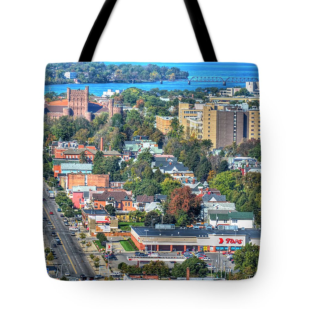 Niagara St Tote Bag featuring the photograph Niagara Street Autumn 2013 by Michael Frank Jr