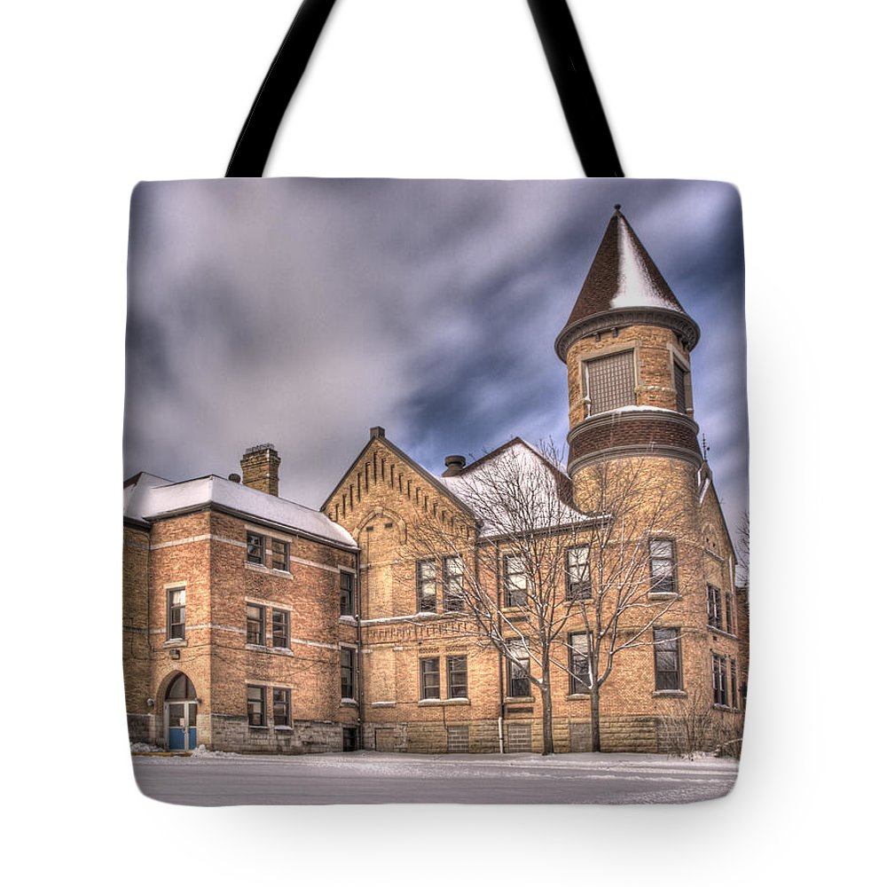 Nicolet School Tote Bag featuring the photograph Nicolet School In High Dynamic Range by Thomas Young