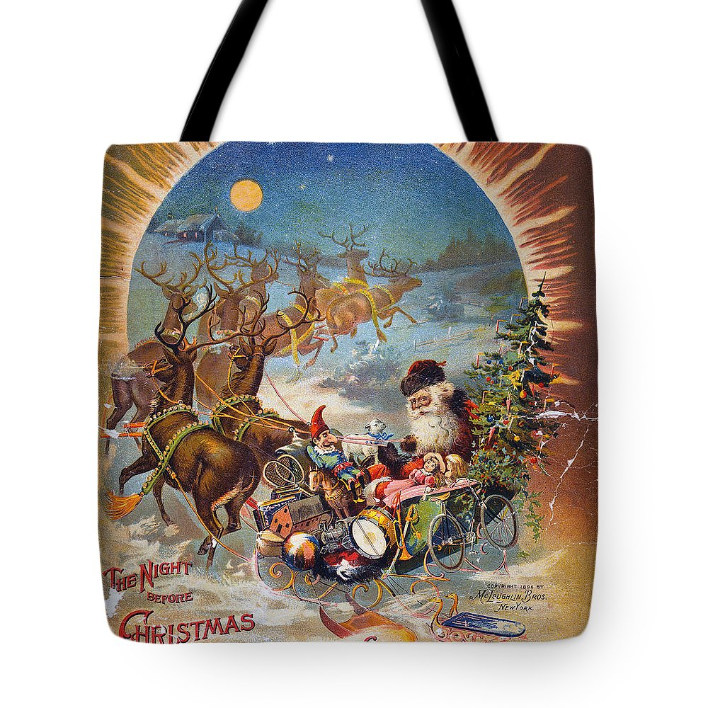 1896 Tote Bag featuring the photograph Night Before Christmas by Granger
