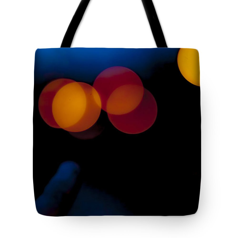 Color Tote Bag featuring the photograph Night Bokeh Spots by Yevgeni Kacnelson