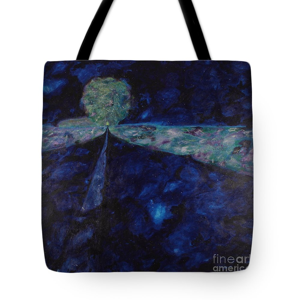 Tote Bag featuring the painting Night Drive 1 by Barry Fishman