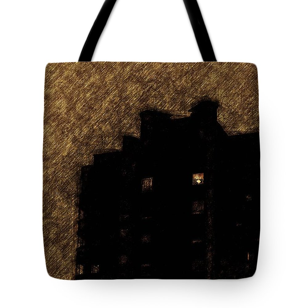Dormitory Tote Bag featuring the painting Night Kitchen by Yevgeni Kacnelson
