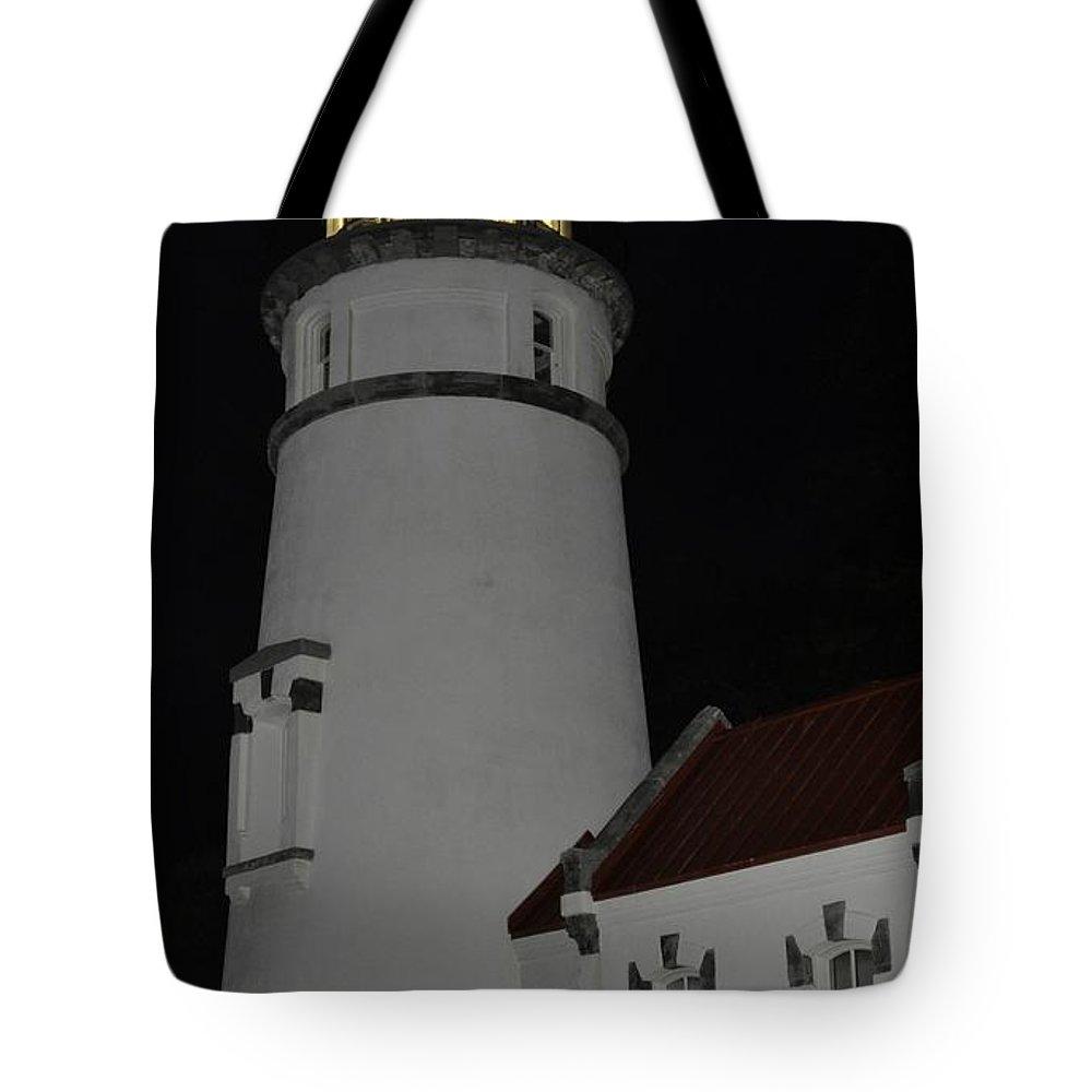 Heceta Head Tote Bag featuring the photograph Night Life At Heceta by Image Takers Photography LLC - Laura Morgan