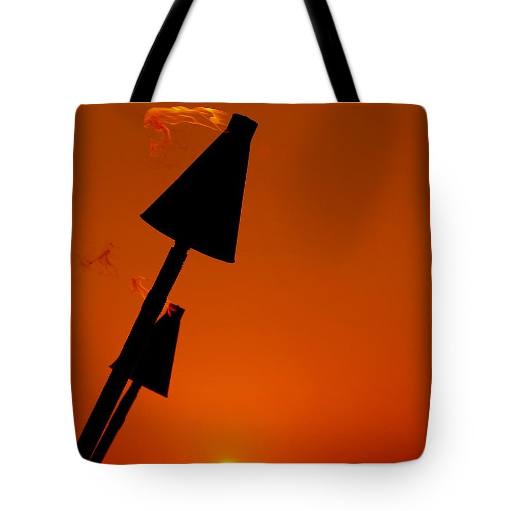 Tropical Tote Bag featuring the photograph Night Light by Athala Carole Bruckner