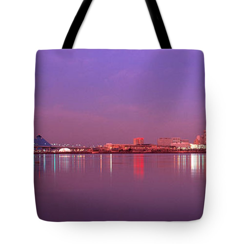 Photography Tote Bag featuring the photograph Night Memphis Tn by Panoramic Images