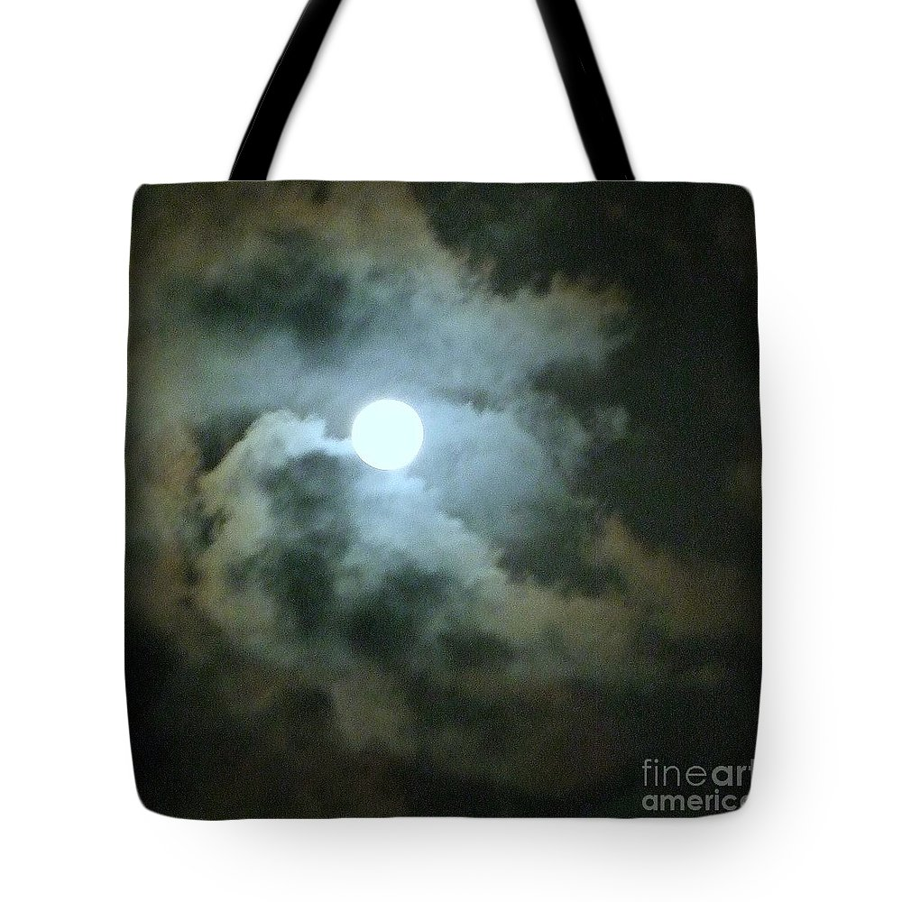 Moon Tote Bag featuring the photograph Night Of The Moon by Mary Deal