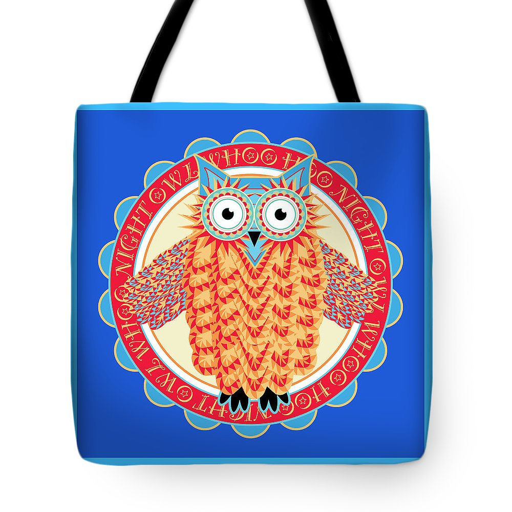 Owl Tote Bag featuring the digital art Night Owl by Antique Images