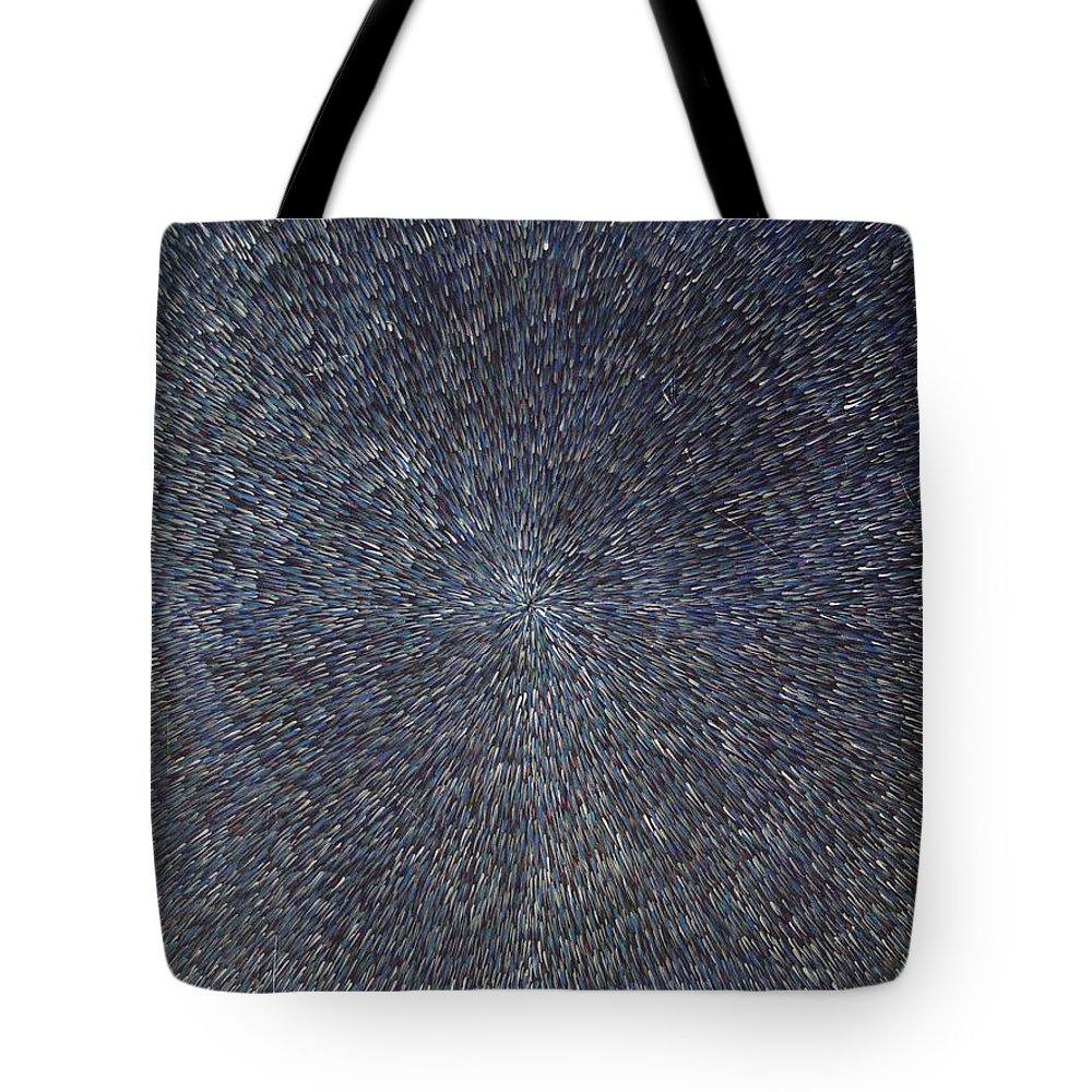 Abstract Tote Bag featuring the painting Night Radiation by Dean Triolo