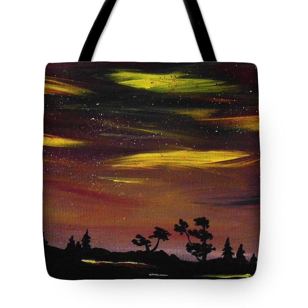 Calm Tote Bag featuring the painting Night Scene by Anastasiya Malakhova