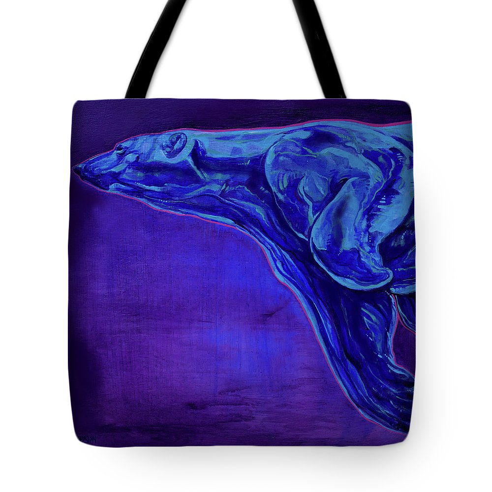 Ursa Major Tote Bag featuring the painting Night Swimmer by Derrick Higgins