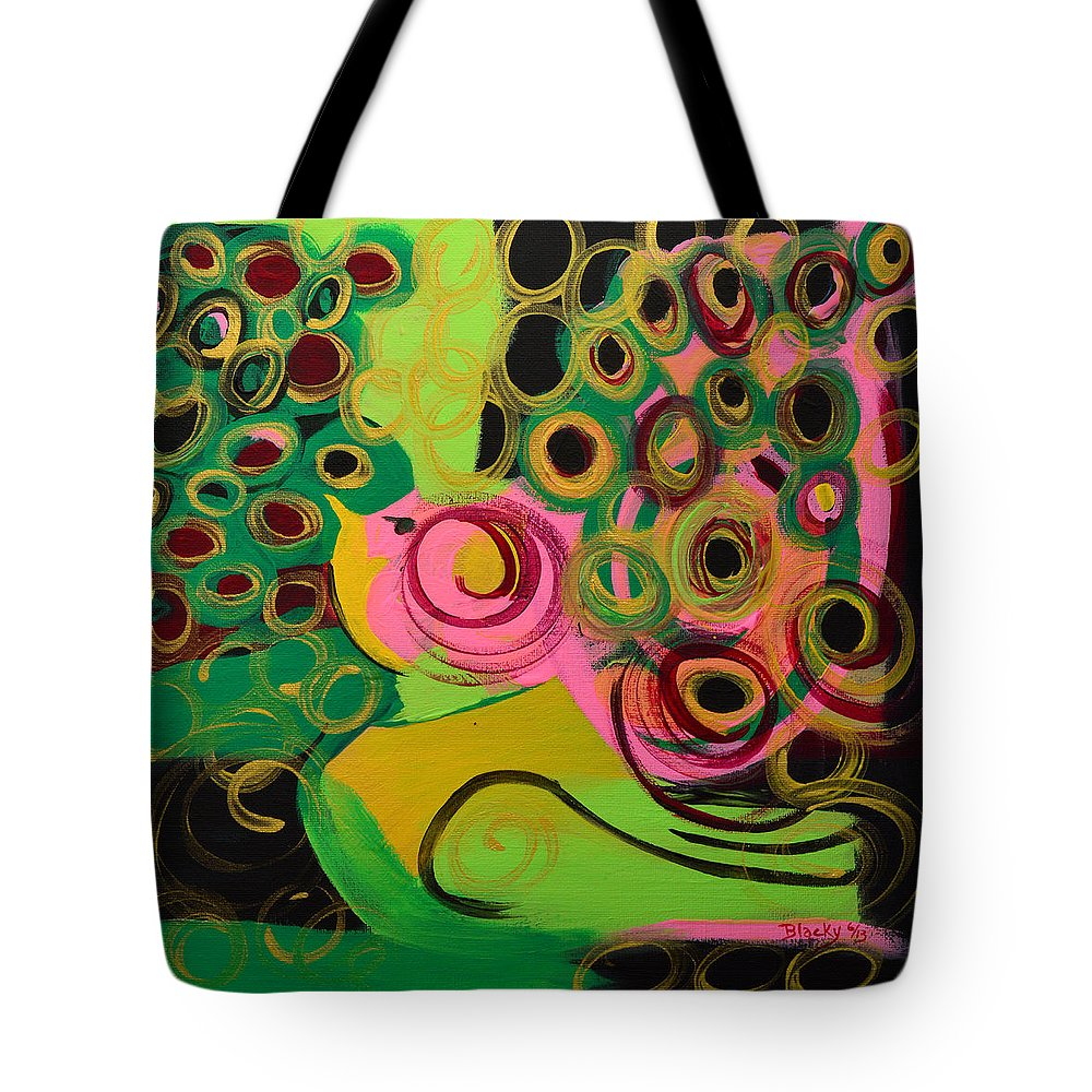 Bird Tote Bag featuring the painting Nightbird by Donna Blackhall