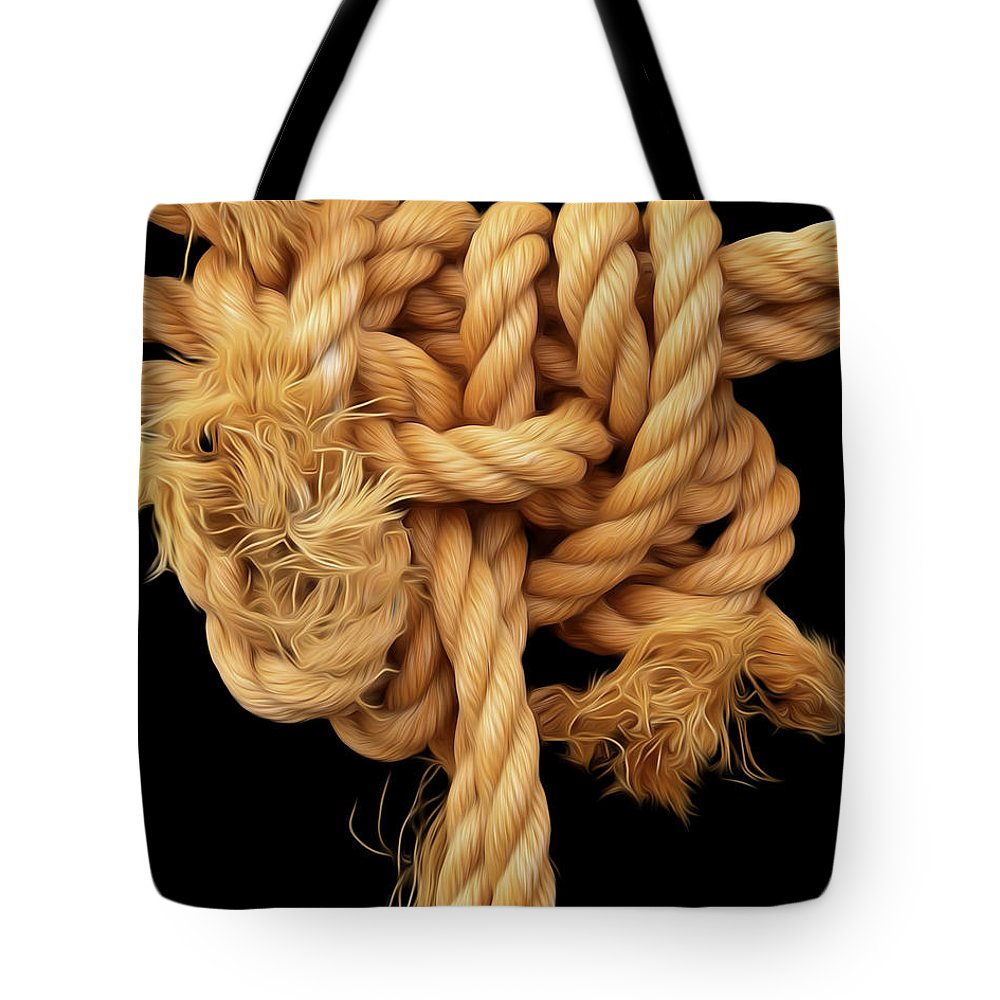 Rope Tote Bag featuring the photograph Nightmare Knot by James Ekstrom