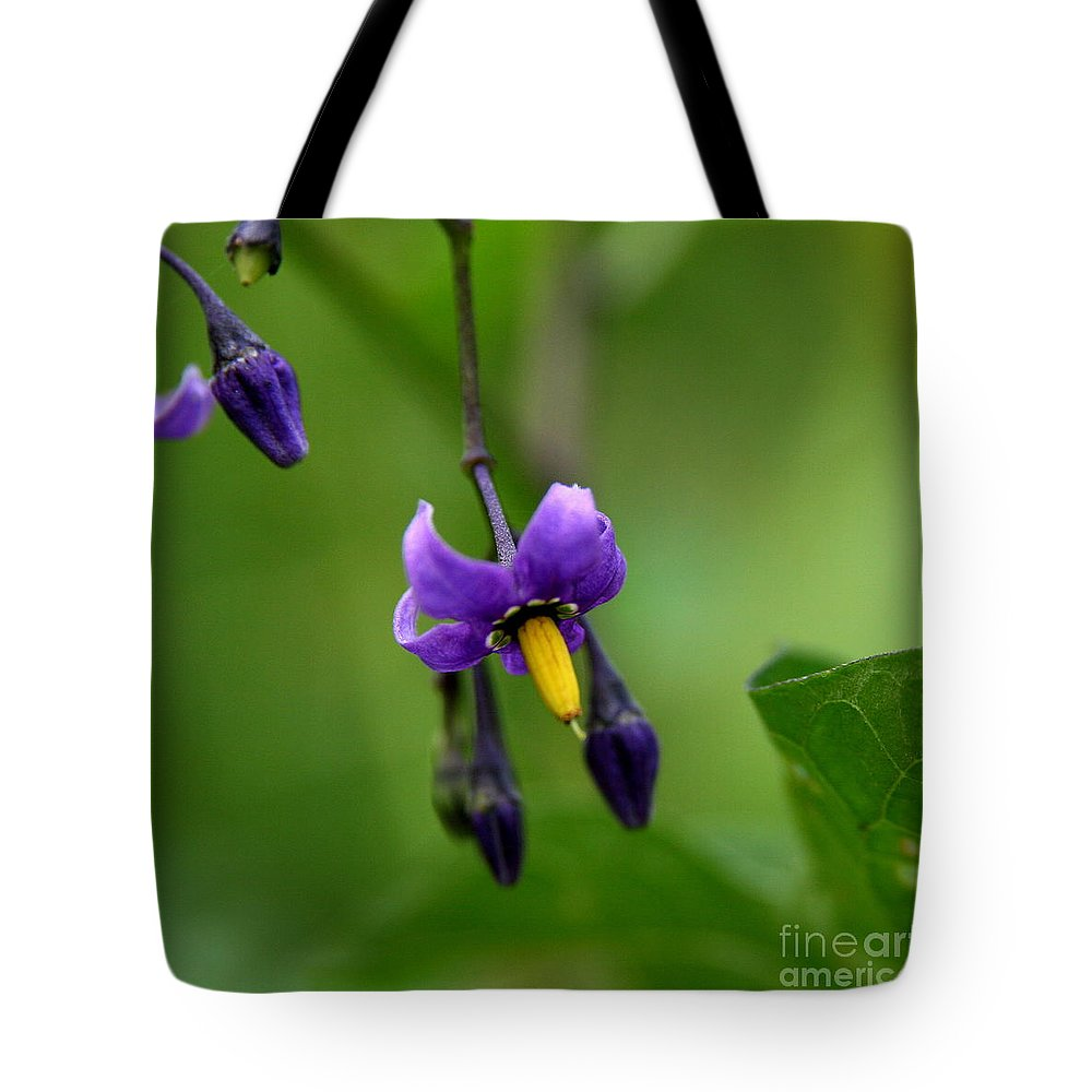 Floral Tote Bag featuring the photograph Nightshade by Neal Eslinger